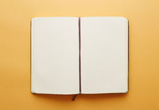 Copy space blank notebook Stock Image