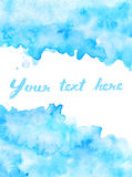 Copy space in blue watercolor background Stock Images