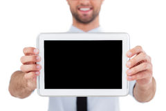 Copy space on digital tablet. Royalty Free Stock Image