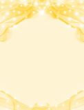 Copy-space frame border golden Stock Images
