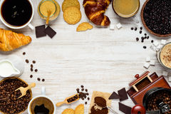 Copy Space Frame with Coffee stock images
