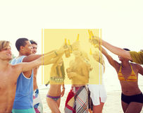 Copy Space Frame Summer Vacation Holiday Concept royalty free stock images