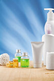 Copy space image of skincare items Royalty Free Stock Photo