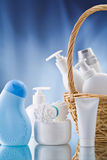 Copy space image of toiletries Royalty Free Stock Images