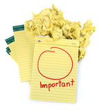 Copy space for important notes royalty free stock image