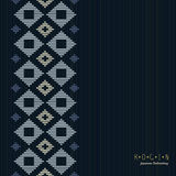Copy space. Japanese Kogin embroidery. Seamless. Royalty Free Stock Image