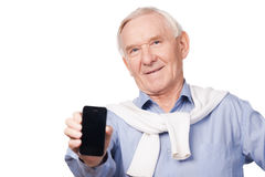 Copy space on my telephone. Royalty Free Stock Image