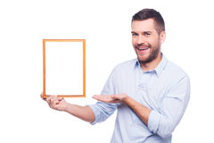 Copy space in picture frame. Royalty Free Stock Photo