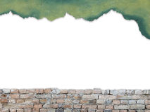 Copy space for text on brick wall background. Clipping path Stock Photography