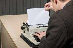 Copy space at typewriter Royalty Free Stock Photo