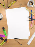 Copy space on white sheet Stock Images