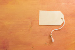 Copy space on wooden background. Wooden copy space with white string on painted wooden background Royalty Free Stock Photography