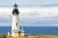 Copy space Yaquina Head Lighthouse, Newport, Oregon Royalty Free Stock Photography