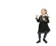 Copy spase with toddler girl Royalty Free Stock Photos