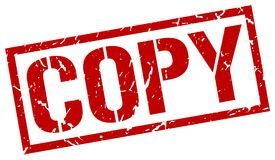 Copy stamp. Copy square grunge sign isolated on white. copy stock illustration