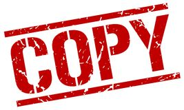 Copy stamp. Copy square grunge sign isolated on white. copy royalty free illustration