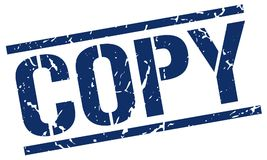 Copy stamp. Copy square grunge sign isolated on white. copy vector illustration