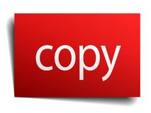 Copy sign. Copy square paper sign isolated on white background. copy button. copy stock illustration