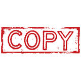 Copy stamp. Grunge background illustration Stock Image