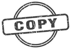 Copy stamp. Copy grunge vintage stamp isolated on white background. copy. sign stock illustration