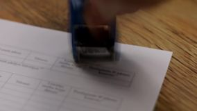 Copy stamp stamping document stamp stock video footage