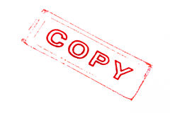 Copy stamper printed Royalty Free Stock Photo