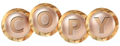Copy tag banner. Copy 3d rendered golden tag banner , isolated on white background Royalty Free Stock Images