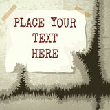 Copy Text Grunge Template Royalty Free Stock Photos