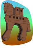 The copy of Troy wooden horse at Canakkale, Turkey Stock Photography