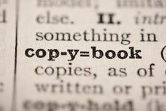 Copybook de mot image libre de droits