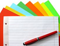 Copybook and pen Stock Images