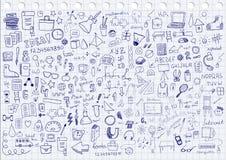 Copybook, penna, matita e l'altra strumentazione royalty illustrazione gratis