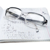 Copybook of physics Royalty Free Stock Photo