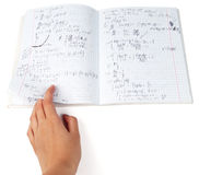 Copybook of physics Royalty Free Stock Images