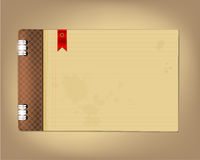 Copybook with red bookmark flag Stock Images