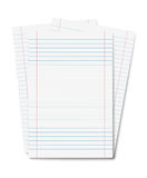 Copybook sheets isolated Royalty Free Stock Photos