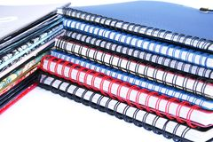 Copybook stacks Royalty Free Stock Photography
