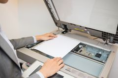 Copying document Stock Image
