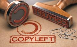 Copyleft koncesja Intelektualnej własności i prawa autorskie pojęcie ilustracji