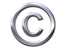 Copyright â Silberschrägfläche Stockbild