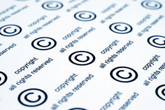 Copyright. Close up of Copyright sign Stock Photography