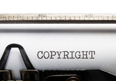 Copyright. Title typed on a vintage typewriter Royalty Free Stock Photography