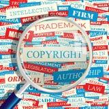 COPYRIGHT Lizenzfreies Stockbild