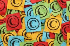 Copyright amarrotado Imagem de Stock