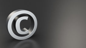 Copyright on black Royalty Free Stock Photography
