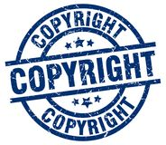 copyright round grunge stamp stock illustration