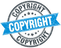 Copyright blue round grunge vintage stamp Royalty Free Stock Photography