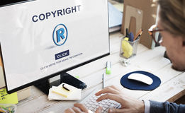 Copyright Brand Business Design Identity Patent Concept Royalty Free Stock Image