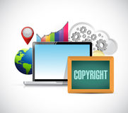 Copyright business concept sign Royalty Free Stock Photo