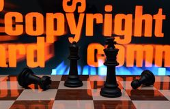 Copyright and chess concept Stock Photo